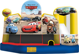 Disney Cars 5n1 Wet Bounce House Combo Rental from Inflatable Party Magic LLC Cleburne, Tx