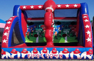 First Down Football Toss Game Rental