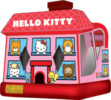 ello Kitty 4n1 Wet Bounce House Combo Rental from Inflatable Party Magic LLC Cleburne, Tx