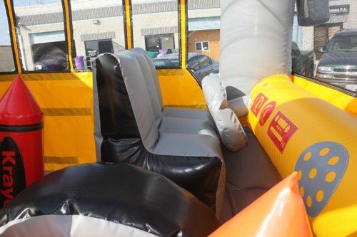 Magic School Bus Bounce House Combo inside view