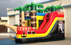 Pirate Ship 4n1 bounce house combo rental