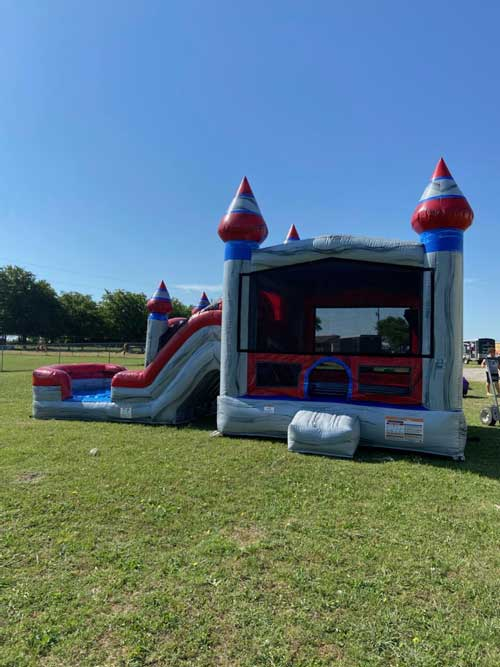 Platinum Wet Bounce House Combo Rental Full View