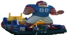 Endzone Football Themed Inflatable Obstacle Course Rental Fort Worth, Texas