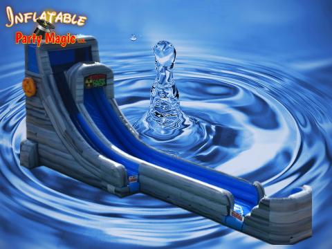Caustic Drop Water Slide Rental Grandview