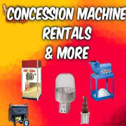 DFW Concession Machine Rentals near me