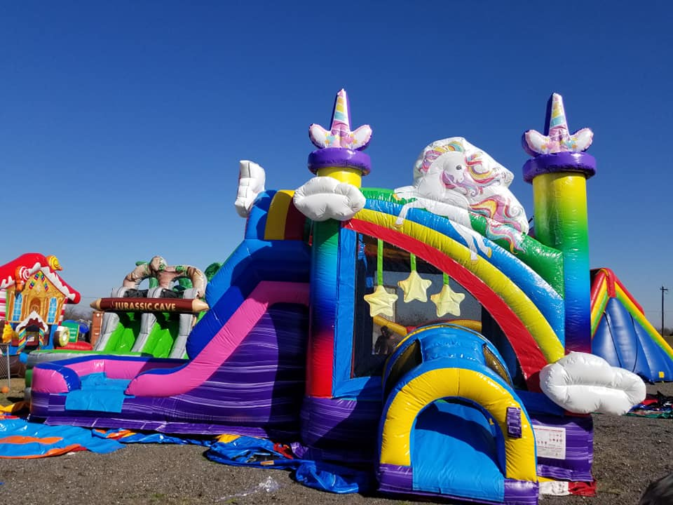 Unicorn Bounce House with Water Slide Rental Grandview