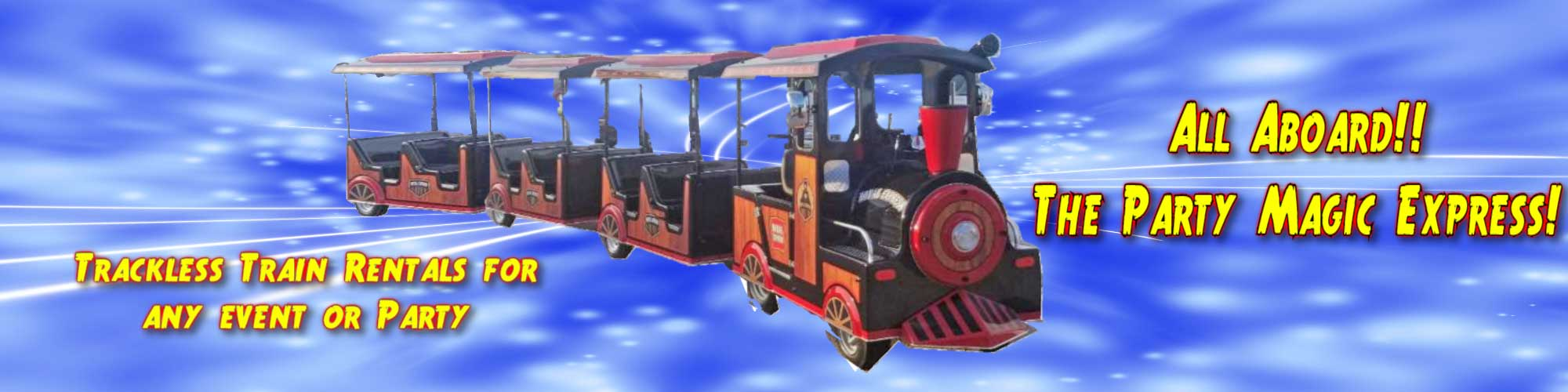 Trackless Train Rentals Texas