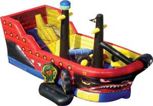Little Pirates Playground Toddler Bounce House Combo Inside View