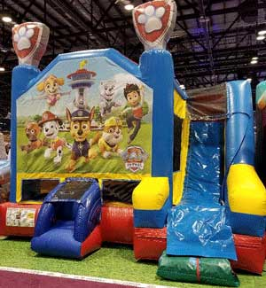 Paw Patrol Bounce House with Wet Slide Rental