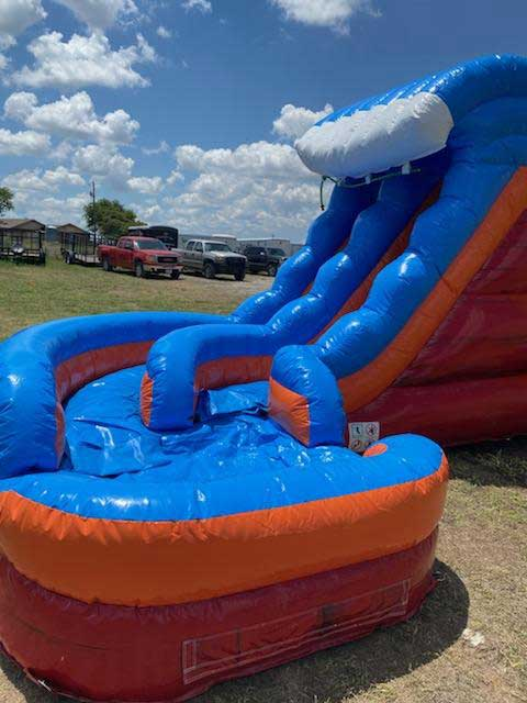 Storm Bounce House Combo with wet slide Rental DFW Texas Slide View