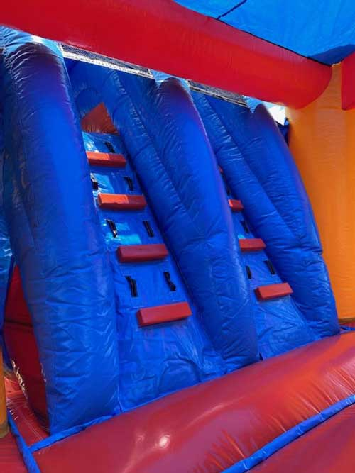 Storm wet bounce house Combo Rental Stair view