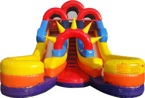 16ft. Jr Double Splash Dry Slide