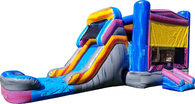 Mega Marble Mansion Bounce House with Slide dry use only