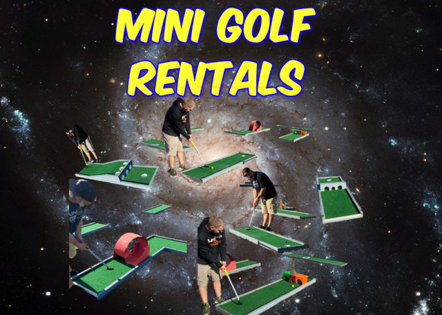 Portable Mini Golf 3 Hole Rental Texas