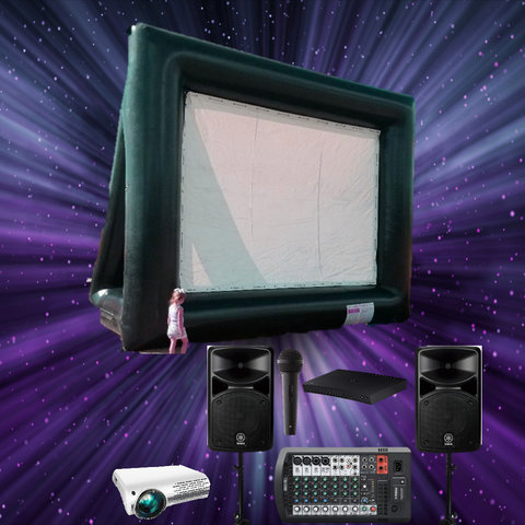 Inflatable Movie Screen Backyard Rental