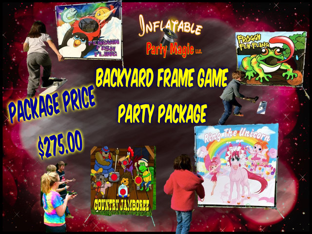 Backyard Frame Game Party Package