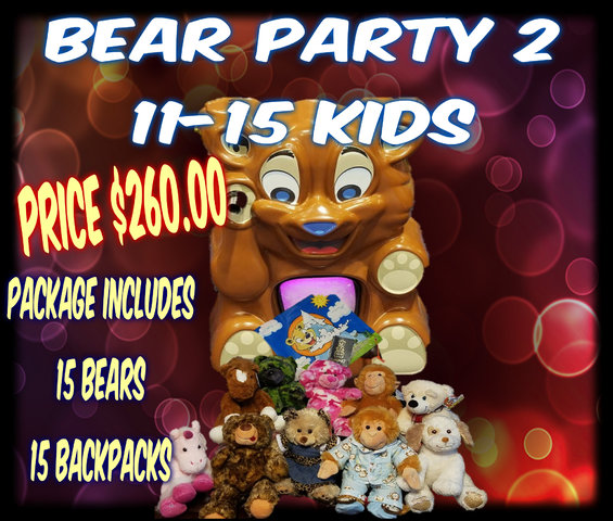 Bear Party Package 2- 11-15 kids