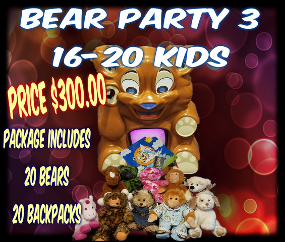 Bear Party Package 3- 20 kids
