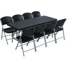 6ft. black Table & Chair Package Deal