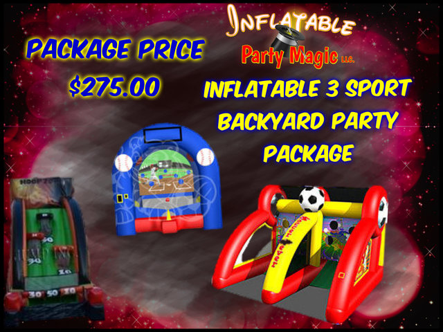 Inflatable 3 Sport Backyard Party Package
