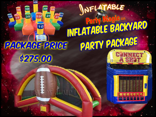 Inflatable Backyard Party Package