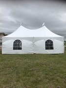 20 X 20  Commercial Frame Tent with Sidewalls