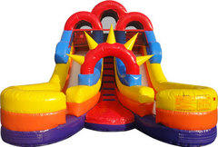 16ft. Jr Double Splash Waterslide wother dual lanes