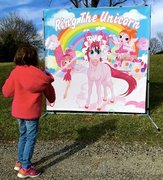 Ring the Horn on the Unicorn Carnival Game