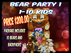 Bear Party Package 1- 1- 10 kids