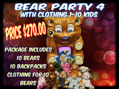 Bear Party Package 4 includes clothing- 1- 10 kids