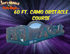 60ft. Camo Obstacle Course- 2 piece obstacle