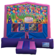 BIRTHDAY Bounce House Purple, Pink and Blue
