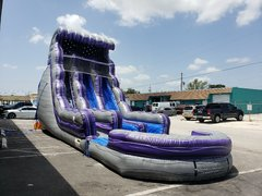 Purple Thunder Waterslide with Pool