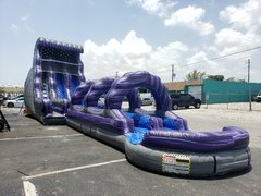 Purple Thunder Waterslide With Slip N Slide