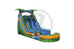 Tropical Emerald Rush Dual Lane Waterslide..