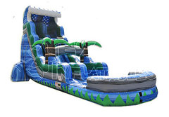 25ft Tropical Tsunami Waterslide with Pool