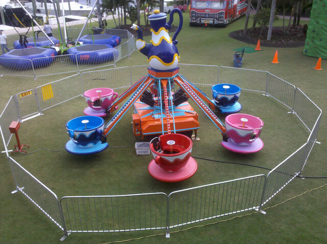 Flying Tea Cups Amusement Ride