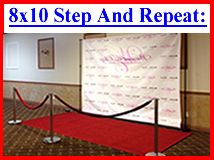 8x10 Step and Repeat Packages