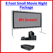 8 Foot Small Indoor / Outdoor Movie Night