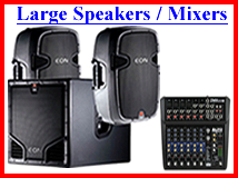 Large DJ Speakers