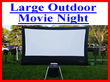 Large Outdoor Movie Night