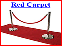 Red Carpet, Chrome Stanchions, Ropes