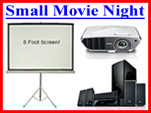 Small Indoor / Outdoor Movie Night