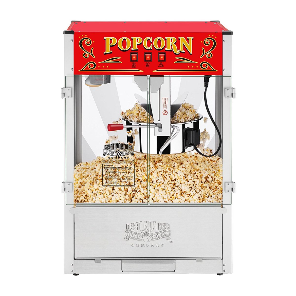 Large Commercial 16oz Pop Corn Machine Rental Denver Aurora Boulder Littleton