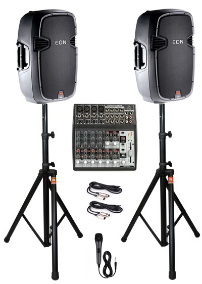 JBL QSC Speaker System Rental Denver Co