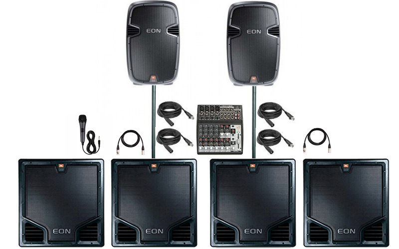 Dj's that bring extra Subwoofers.  Multiple subwoofer rentals Denver. Very loud subwoofer rentals