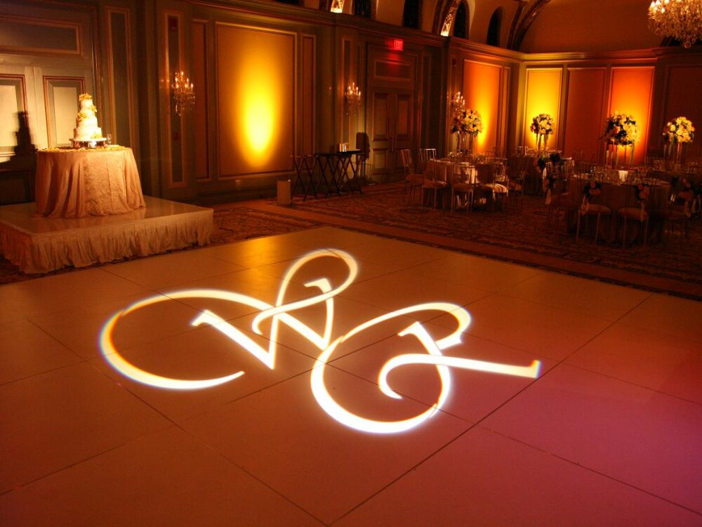 Monogram Gobo Lighting Al Denver Wedding
