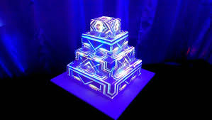 Wedding Cake Projection Mapping Aurora Colorado