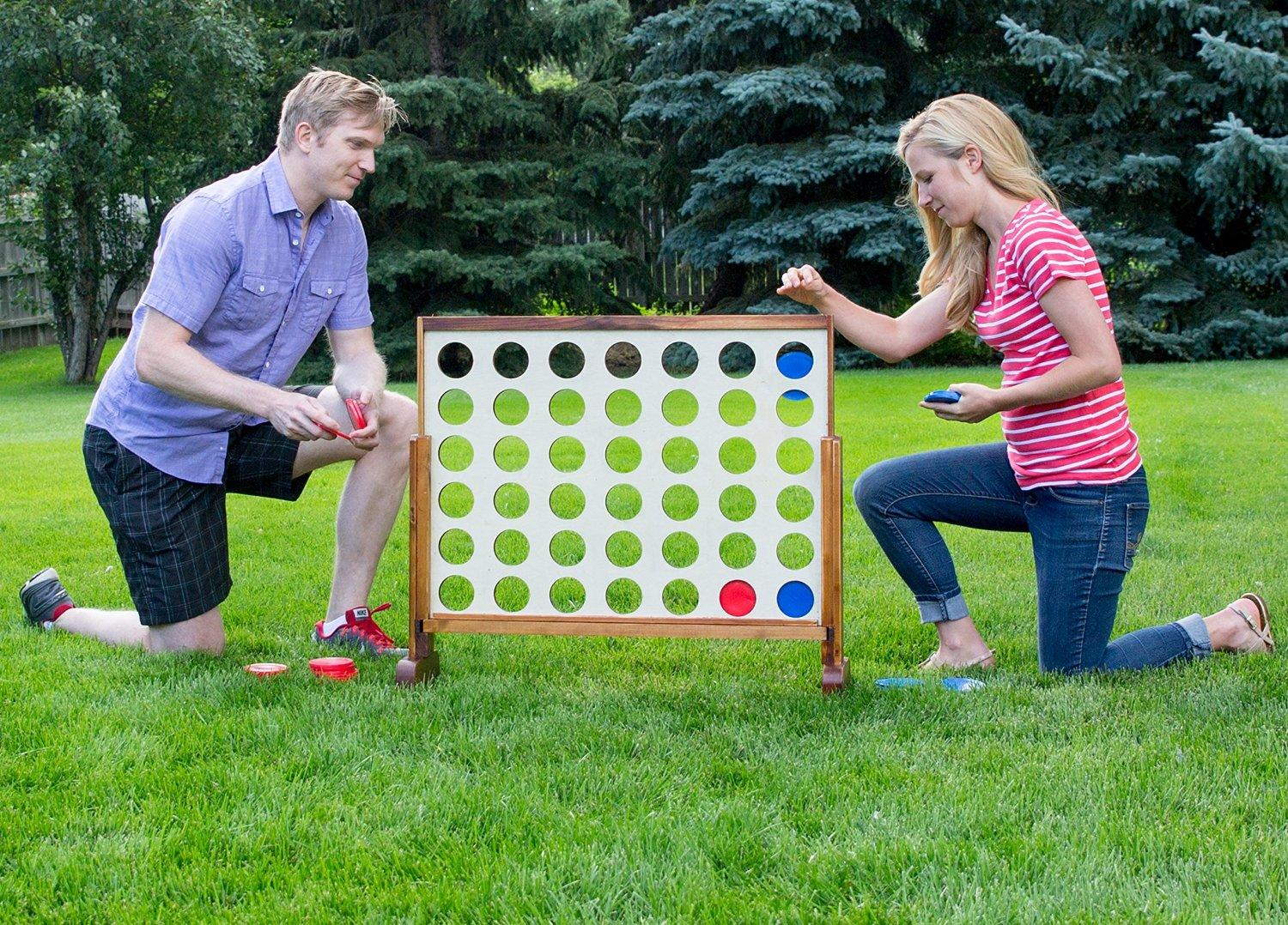 Giant Connect 4 Outdoor Game Rental Denver Co