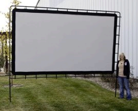 144 inch projection screen, Rear Projection Screen,  indoor or outdoor rental Denver Boulder Aurora Littleton